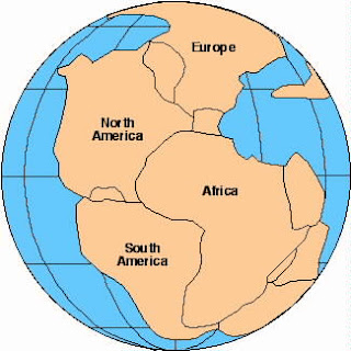 Pangaea before it was divided in the days of Paleg LDS