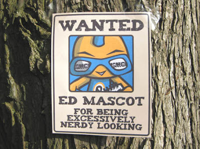 An Ed Mascot wanted poster!