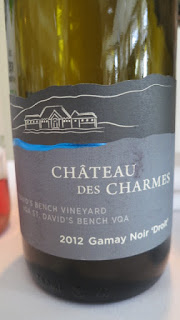Château des Charmes Gamay Noir 'Droit' St. David's Bench Vineyard 2012 - VQA St. David's Bench, Niagara Peninsula, Ontario, Canada (89 pts)