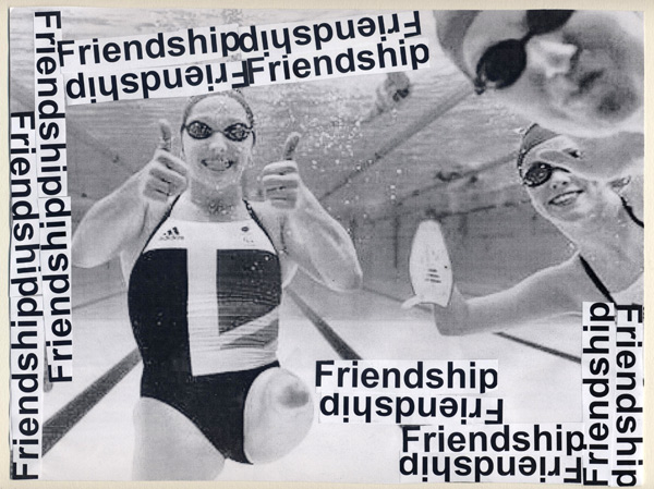 Olympic Value Postcard by Zoe Clifford: Friendship