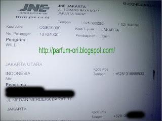 Pengiriman Parfum ke Jakarta, DKI Jakarta