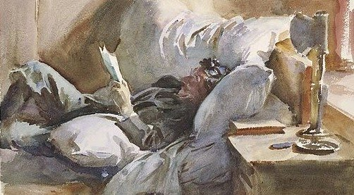 MAN READING, DE JOHN SINGER SARGENT