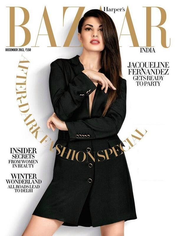 Jacqueline Fernandez Harper Bazaar Magazine Hot Photo Shoot