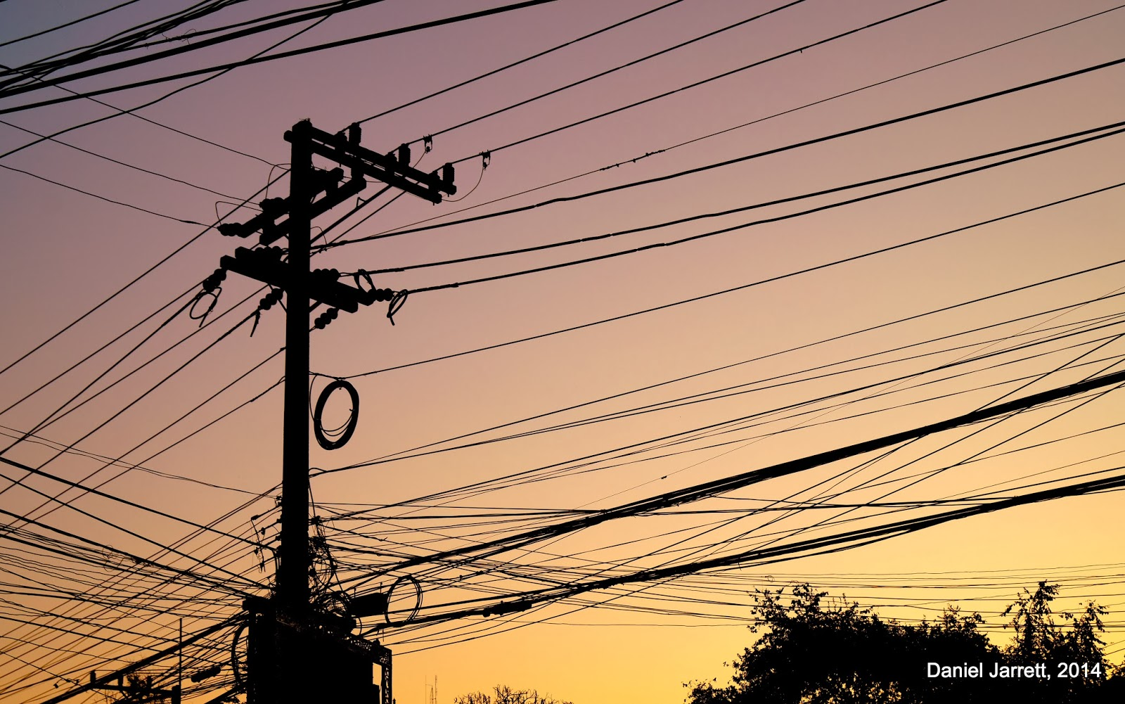 Mae Hong Son Sunset Wires