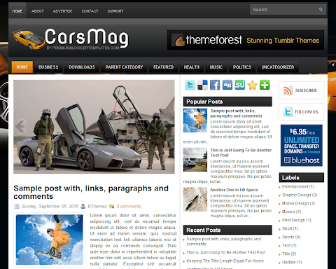 CarsMag Blogger Theme