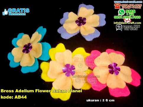 Bross Adelium Flower Bahan Flanel Flanel