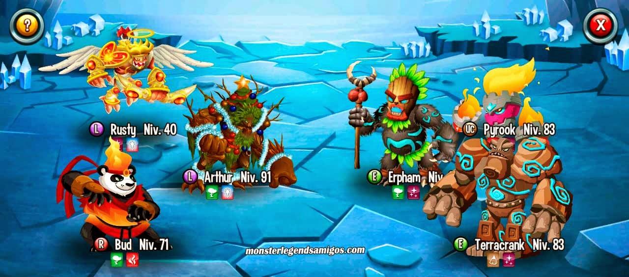 imagen de la batalla de la mazmorra trabajadores de monster legends