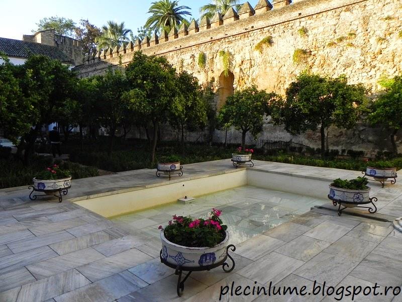 Curte interioara in Alcazar de los reyes, Cordoba
