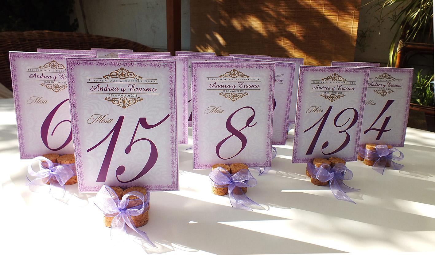 fortunaideas partes para matrimonio numeros para mesas