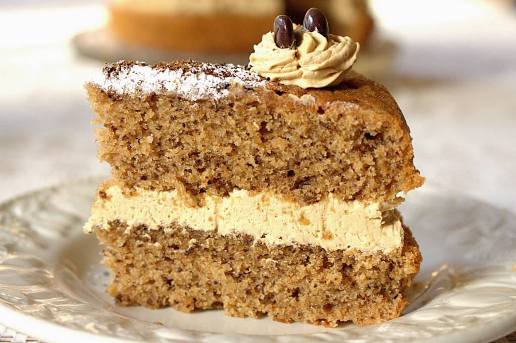 ... Rather Bake Than...: Coffee and Walnut Cake - A Classic British Recipe