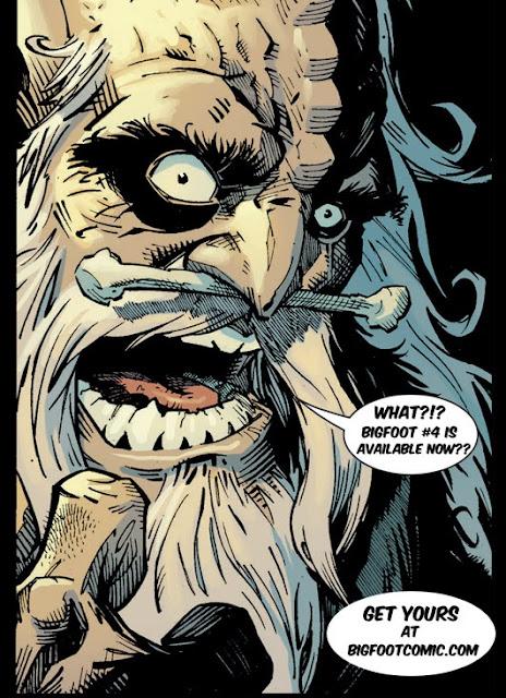 Bigfoot Sword of the Earthman issue four bigfoot comic book bigfoot graphic novel