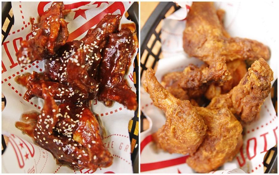 The Burger Joint BBQ Sesame Buffalo Wings Classic Buffalo Wings