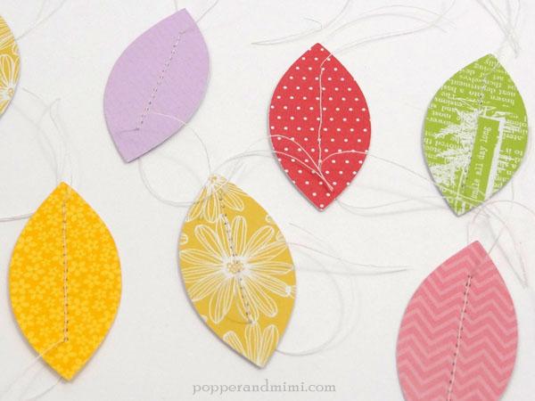 Modern Paper Leaf Embroidery Hoop Wreath Tutorial