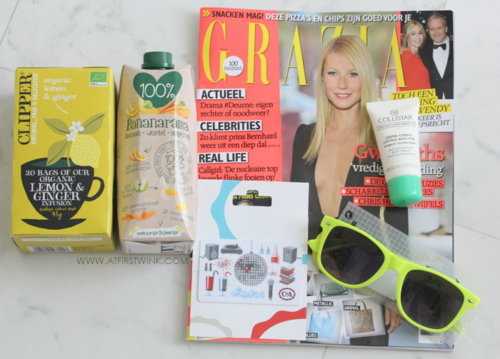 contents of the Goodiebag from the C&A Summer Fashion Festival
