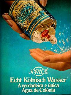 propaganda água de colônia 4711 - 1979.moda anos 70. propaganda decada de 70. reclame anos 70. Oswaldo Hernandez.