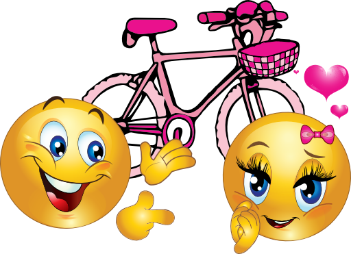 Pink bike smileys