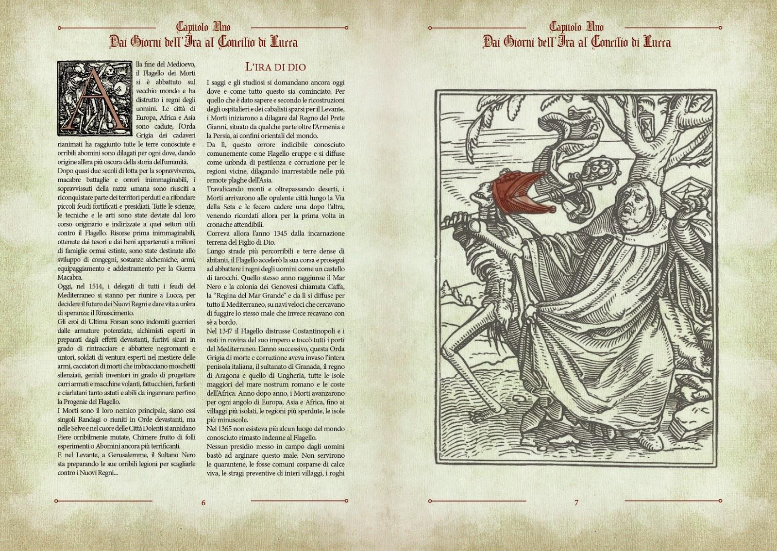 Ultima Forsan, un'anteprima dal manuale