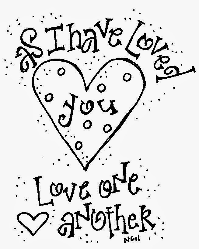 Love Quotes Coloring Pages coloring page love one another adult