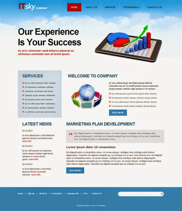 IT Sky Company - Free Wordpress Theme