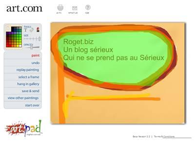 Peindre en ligne avec art on line