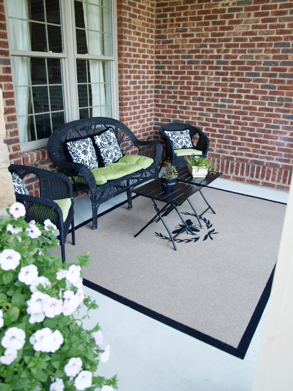 DIY Outdoor Rug for Less Than $25! | Less Than Perfect Life of ...