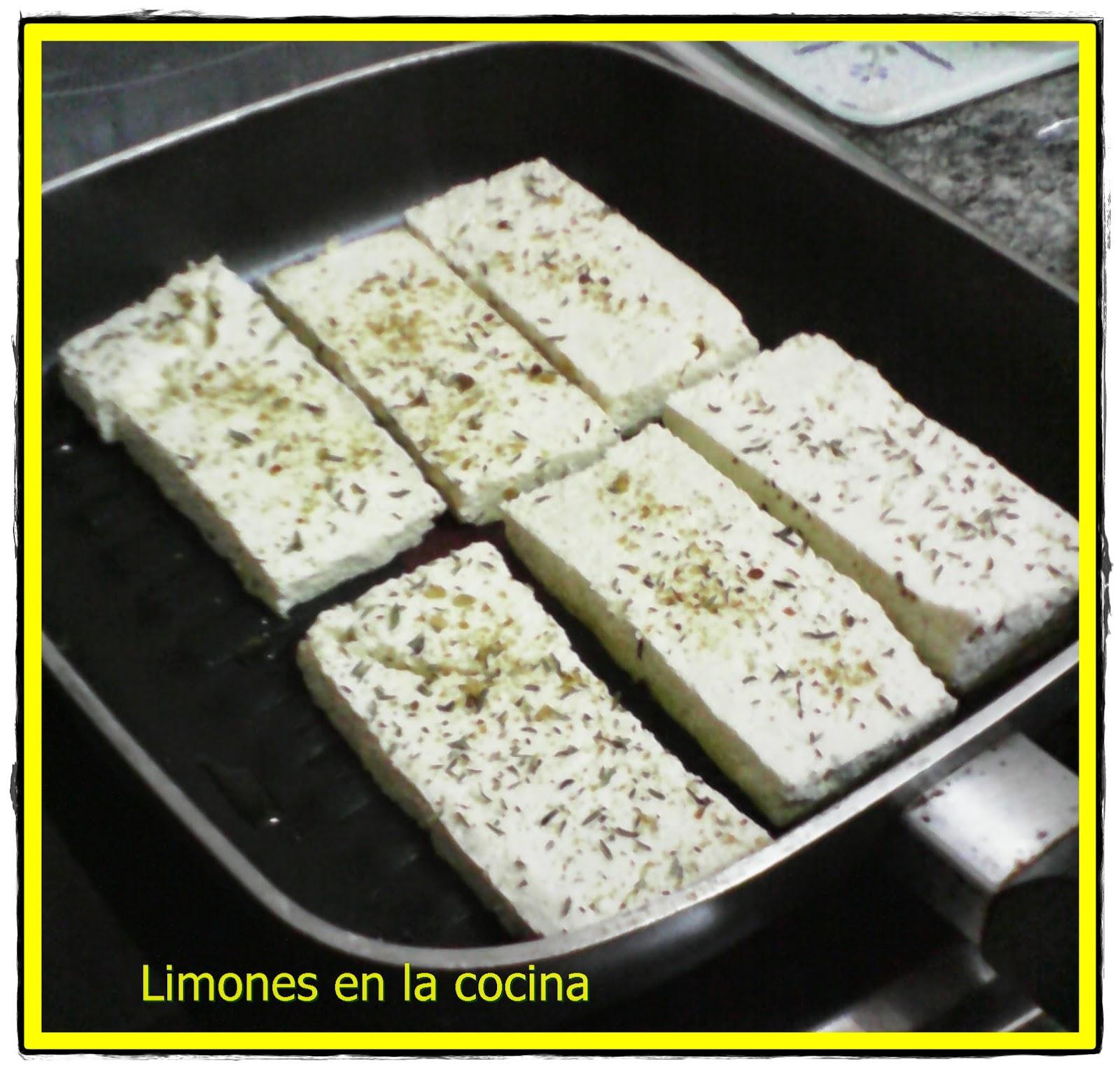 Limones en la cocina: Tofu a la plancha