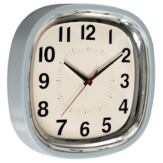 kitchen clock pastel blue