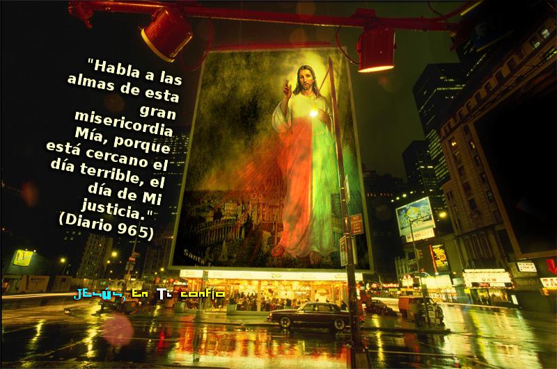 jesus en cartel anuncio