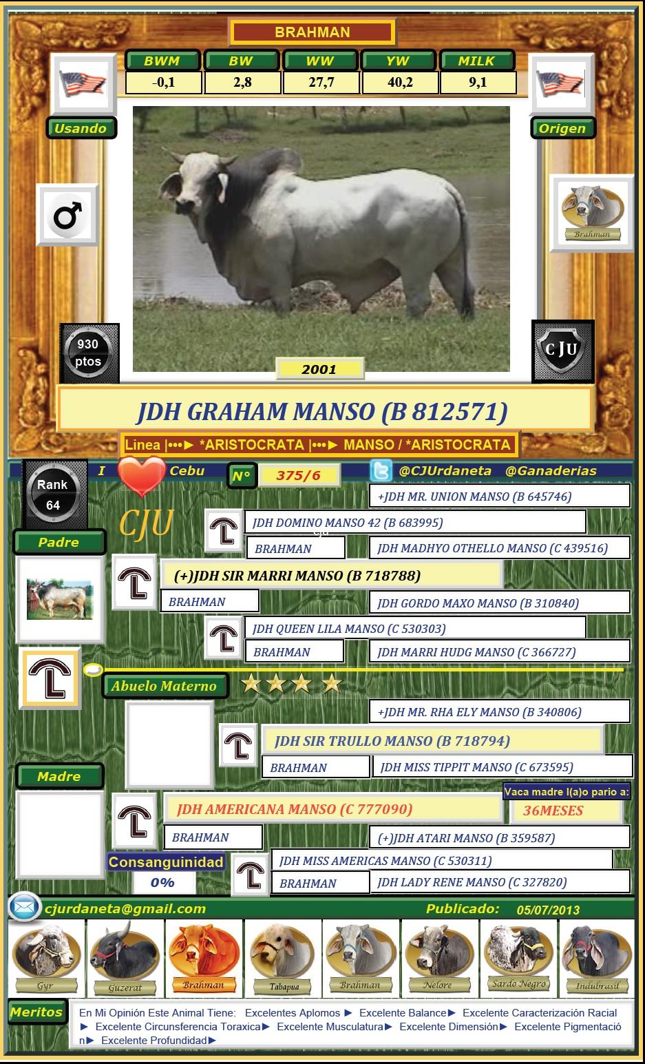 JDH GRAHAM MANSO (B 812571)
