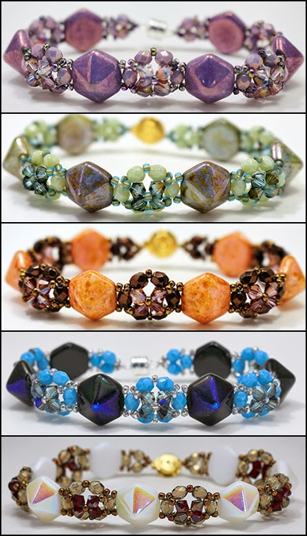 around the beading table new free pattern cupola bracelet