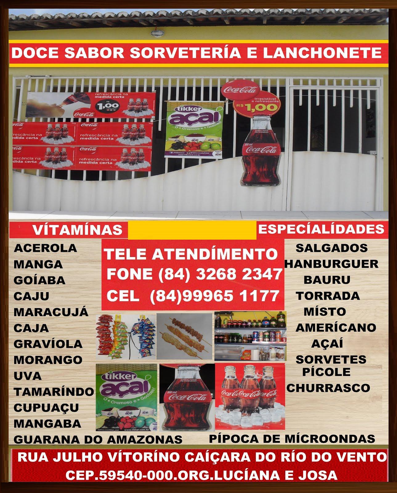 DOCE SABOR SORVETERÍA E LANCHONETE