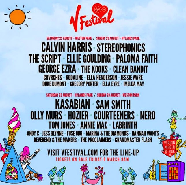 V Festival 2015 Line-up Calvin Harris and Kasabian