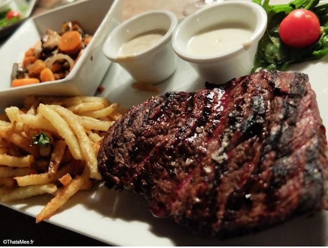 steak pave charolais boeuf irish angus resto aller retour Paris