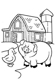 dicas de Desenhos de Fazenda para imprimir e colorir