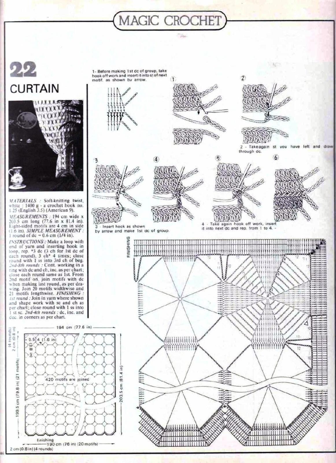 Занавески крючком: схемы вязания штор, подхваты, шторы для 12
