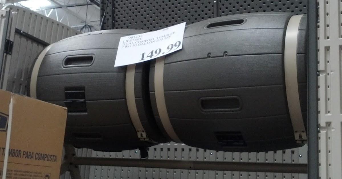 Lifetime Dual Compost Tumbler Model Costco