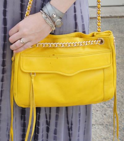 Balenciaga pearly grey wrap bracelet stack RM bright yellow swing bag