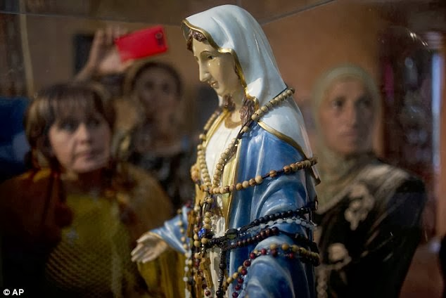 Virgin Mary Statue 'Weeping Tears Of Oil' In Israel