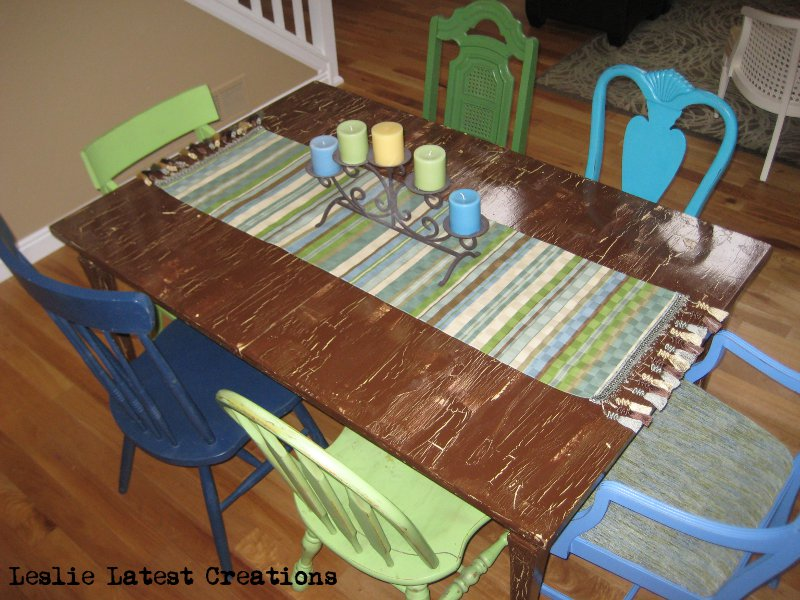 leslie 39 s latest creations dining room table runner
