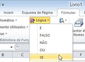 fórmula SE do Excel
