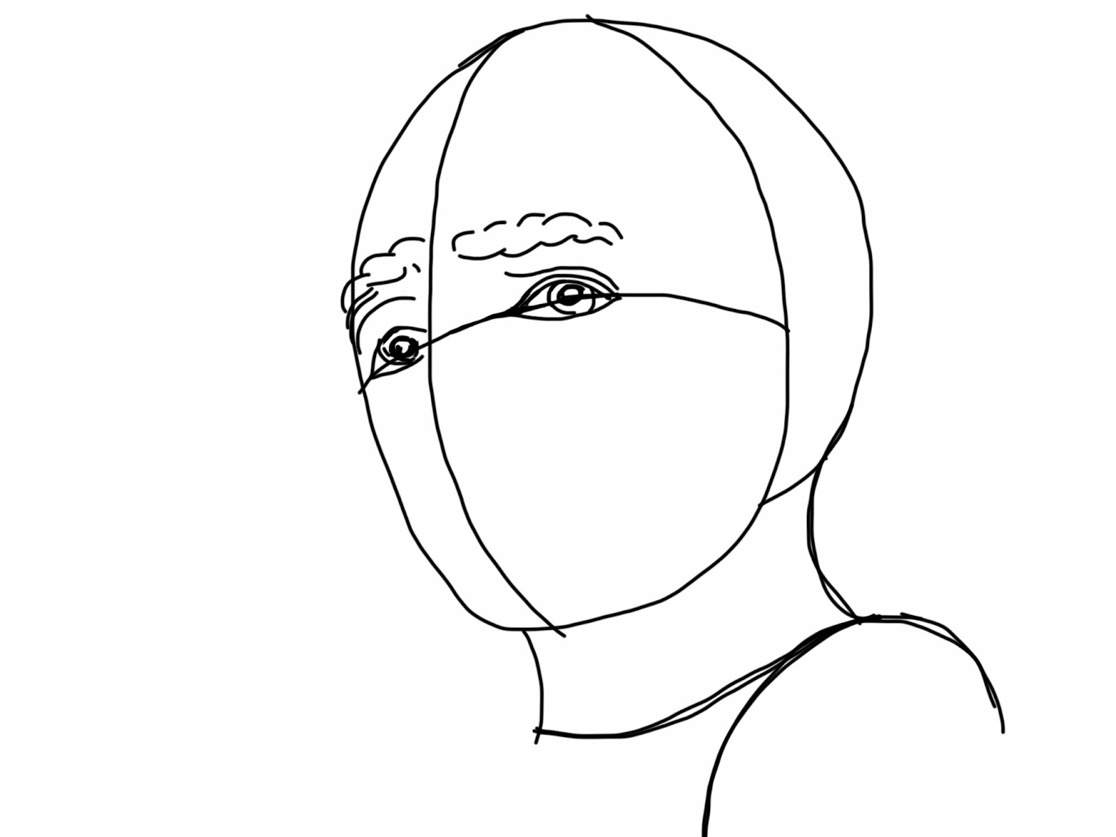 how to draw shadows on a face