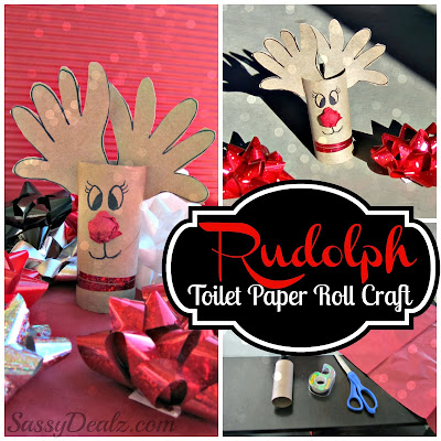 rudolph toilet paper roll craft