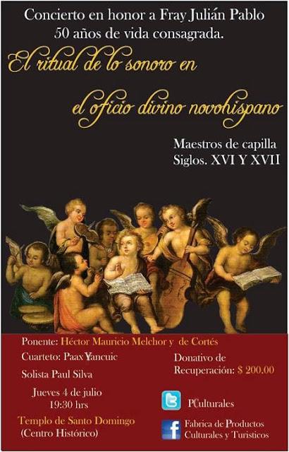 Concierto, conferencia y visita guiada en el Templo de Santo Domingo