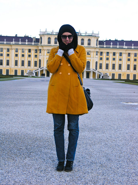 "yellow5 WINTER LOOK ""MUSTARD COAT"""