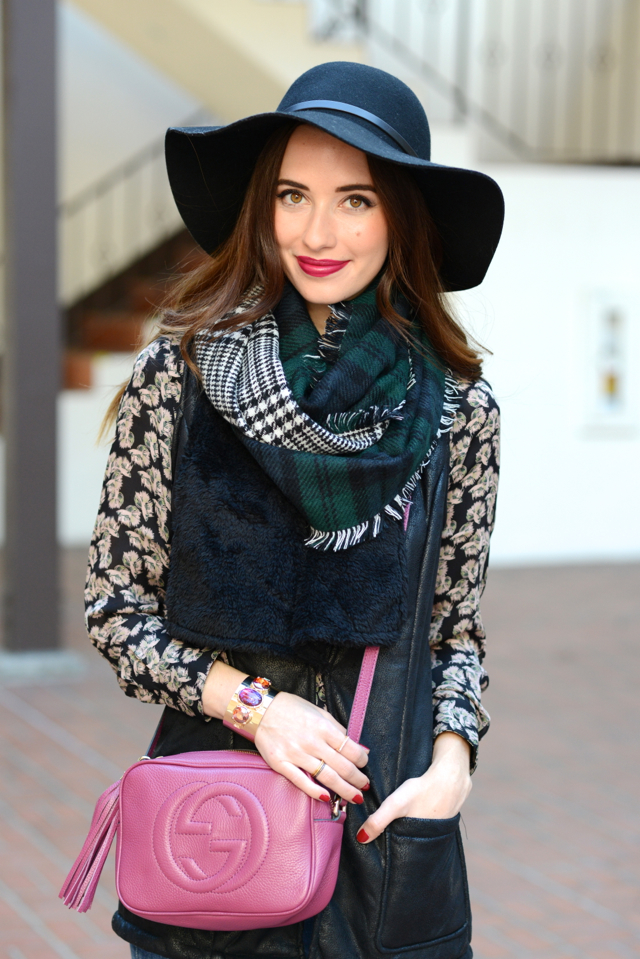 double plaid infinity scarf on M Loves M @marmar
