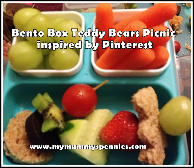 Bento box teddy bear's picnic packed lunch