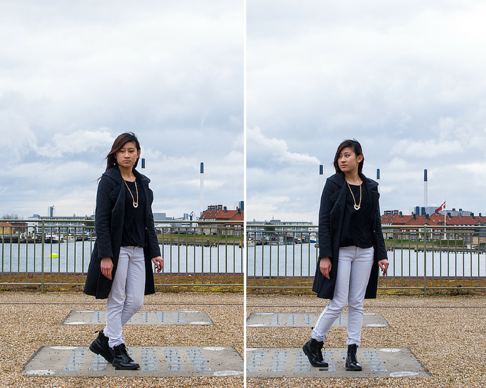 monochrome OOTD feat topshop and h&m