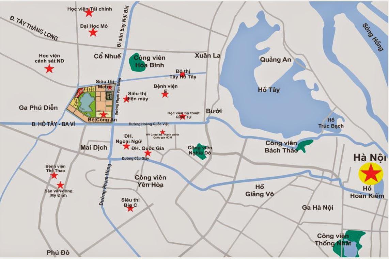Chung cư Green Stars được xây dựng trên lô đất CT2 khu đô thị thành Phố Giao Lưu, số 234 Phạm Văn Đồng