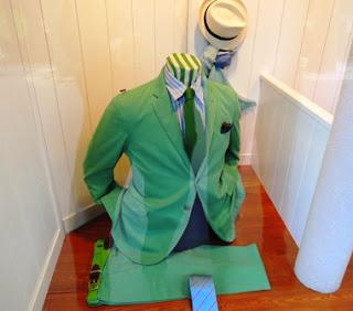 green, jacket