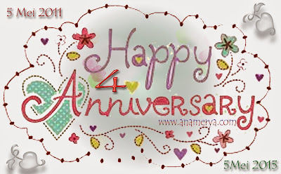 Happy 4th Anniversary To My Blog